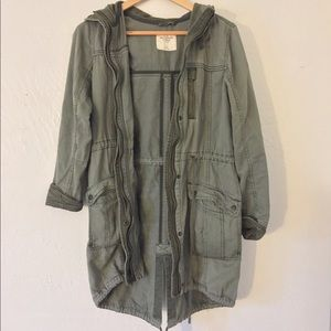 Abercrombie & Fitch Sage Green Utility Jacket